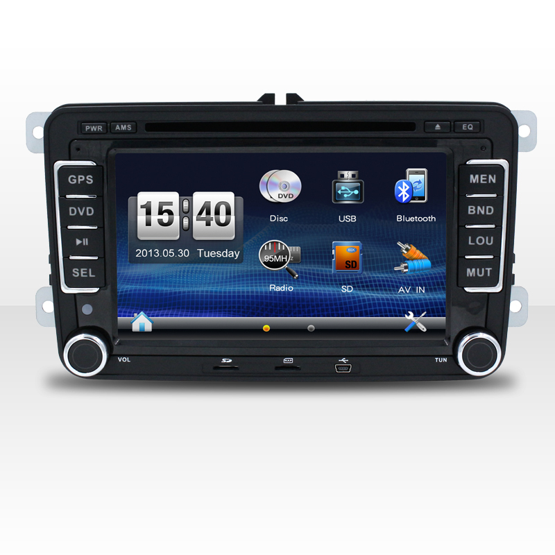 7inch screen car dvd navigation stereo for vw magotan variant and skoda