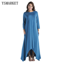 718a6d64fda Add to Favorites · 2018 Plus Size Women Loose Maxi Long Dress Spring  Elegant Casual ...