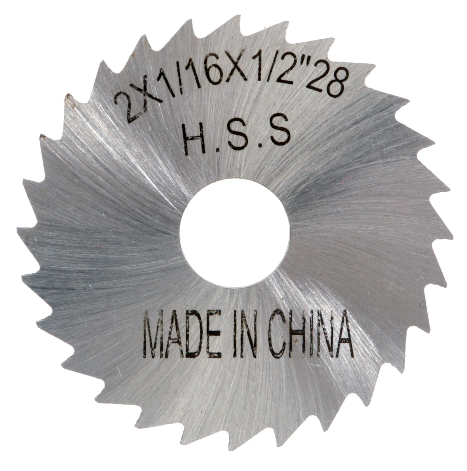 3-1//2-Inch by 1//8-Inch by 1-Inch 30T Grizzly G9484 HSS Slitting Saws