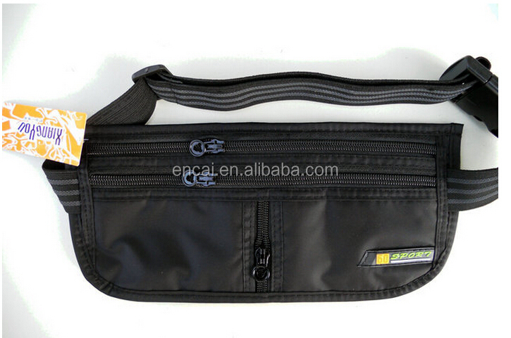 Encai New Style Travel Money Belt Passport Waist Bag