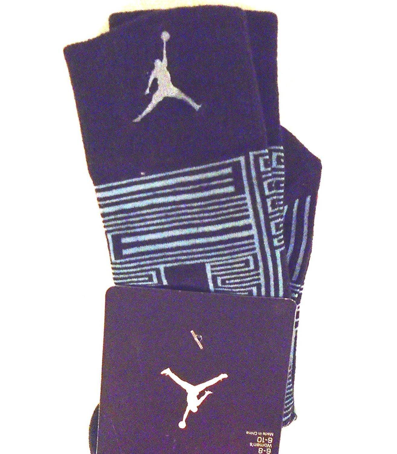 NIKE Air Jordan Retro XI Crew Basketball Socks (Black/Game Royal Blue) MED