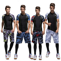 Men's Basketball Sportswear Suit Sets Shirts and Shorts Personality Print Custom Logo Training Wear