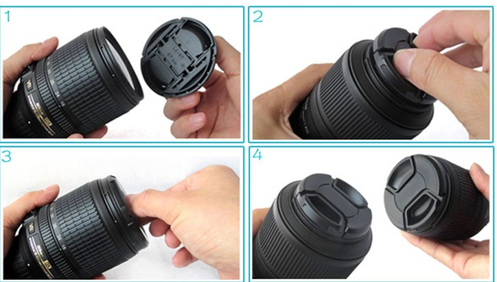 Centre pinch snap on 37mm DSLR camera Lens Cap universal for all brand camera