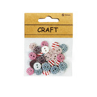 Dot Strip Printed Mixed Color and Sized 2-Holes Decorative Button for Clothing,For Scrapbooking With Small Packaging