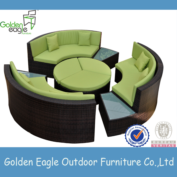 New Style round sofa and rattan sofa foe lobby and garden furniture