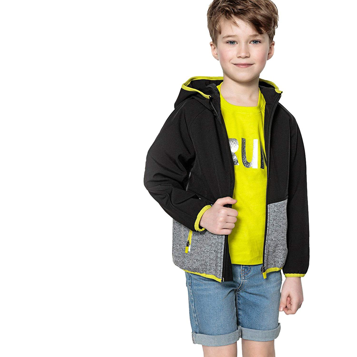 La Redoute Collections Big Boys Hooded Zip-Up Windcheater 3-12 Years
