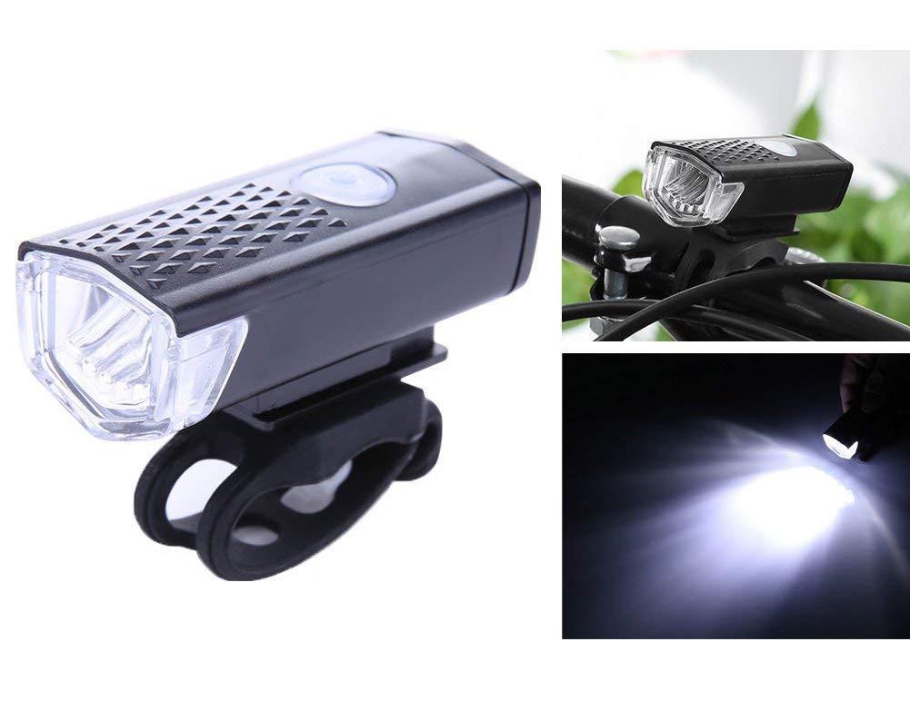 KORADA Bike Light Set, Bike Headlight USB Rechargeable, LED Bike Front Light & Rear Light, Water Resistant Cycling Light for Street/Mountain/Kids Bikes