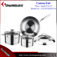 Small Single Handle Cookware , Durable 304 Stainless Steel Wok / Milk Boiling Pot