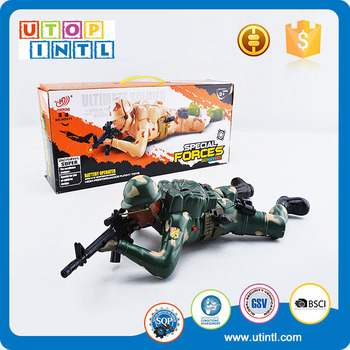 Military plastic battery operated toy with sound and sight free soldiers army men