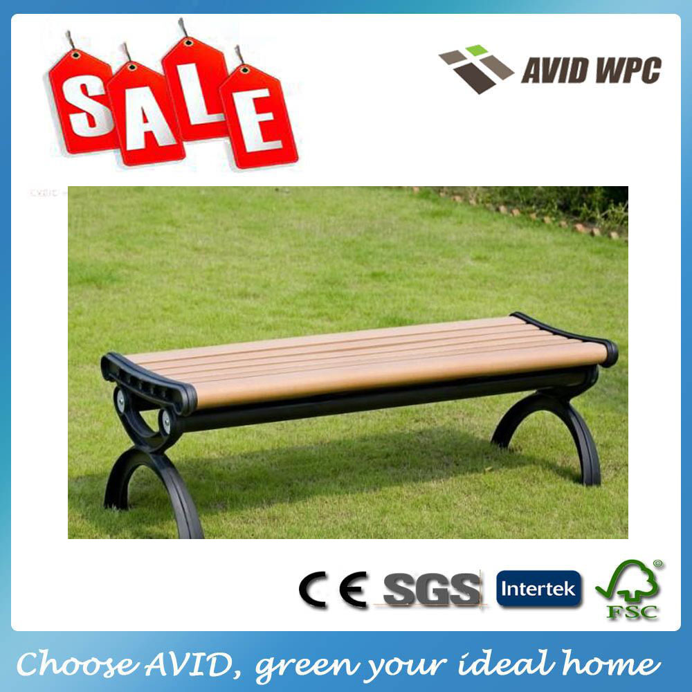 Waterproof WPC outdoor garden bench