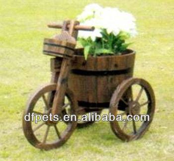 Wooden Wagon Planter