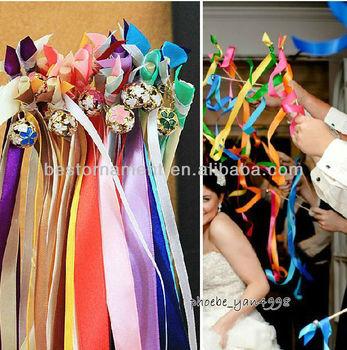 Wedding Favor Ribbon Sticks Wands