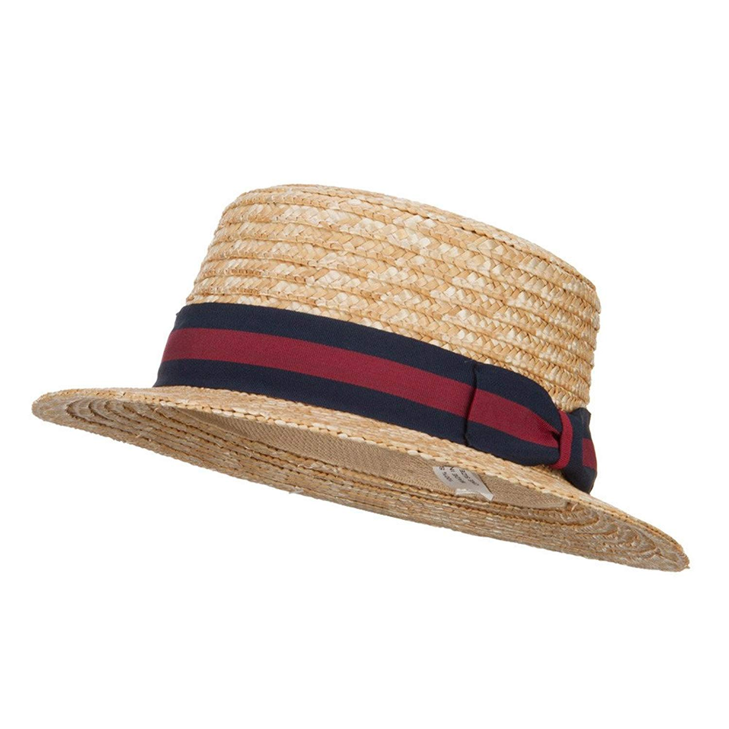 30109d508942a Get Quotations · Boy s Vintage Straw Boater Hat