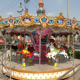 Professional customized christmas ride mechanical swing carousel ride