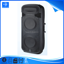 Heavy Bass Plastic Trolley Speaker With AC&DC and wheels BS-023-1