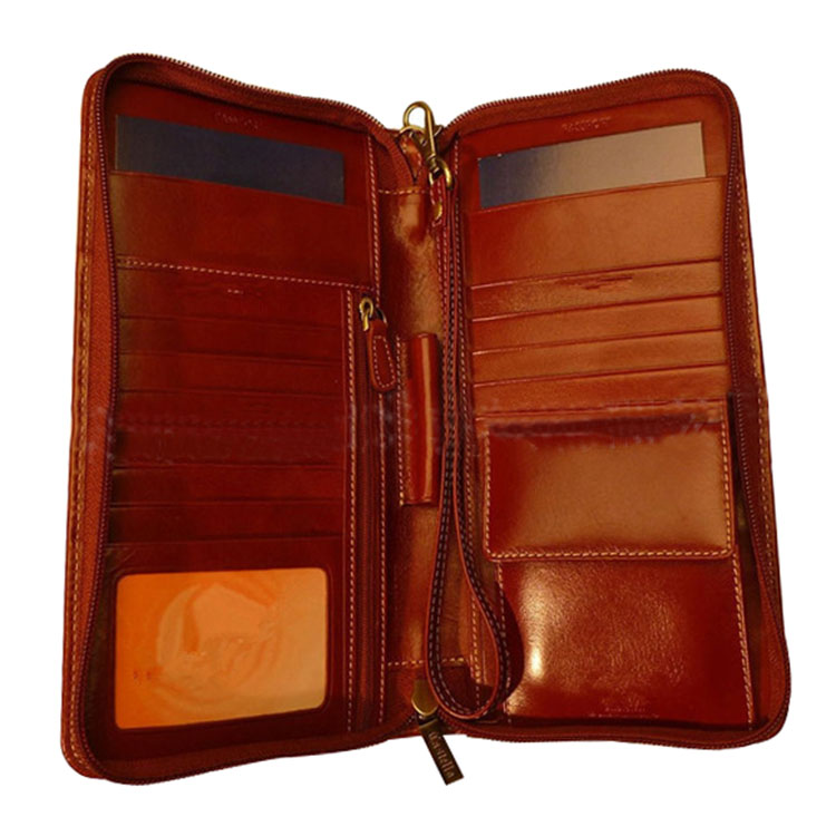 Portable Brown Leather Business Briefcase For Office