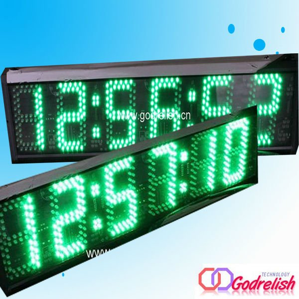 7- segment high quality 3inch 6 digital large outdoor outdoor <strong>led</strong> <strong>display</strong>