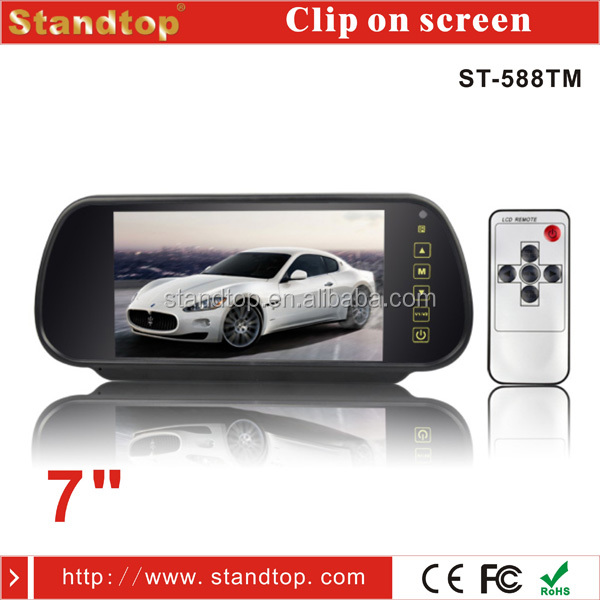 7 inch Touch Screen Clip On Screen Rear View Car Mirror Monitor