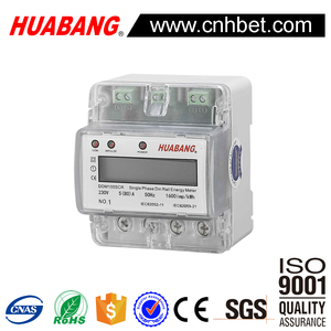 single Phase din rail energy meter relay remote for electric meter stop