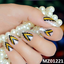 2015 newest 12 pcs strips press MZ01221 fashion fantasy rose mds series 3d wrap nail art