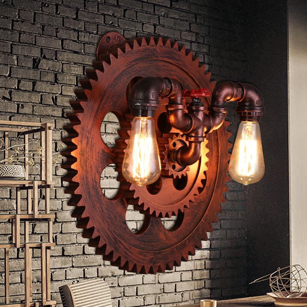 Paese americano loft style industrial creativo retro cafe bar luci ...