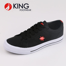 Manufacturers Customizd Lady Shoes Women Black Pu Leather Shoe