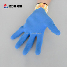 Gardening printing latex coated wearable protective safety gloves