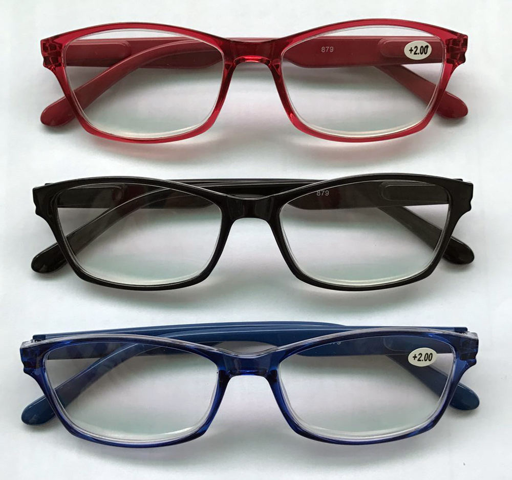 5213b5760 YD1701 plástico Barato óculos de leitura com lente de cristal ...
