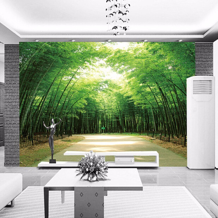 Calming Yourself On The Bamboo Forest Road Theme Mural 3d