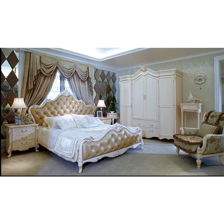 Custom Made Hotel White Rococo Bedroom Furniture Rococo Living