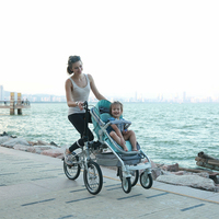 New design 2018 hot sale mother-baby trolley stroller bicycle/parent-child folding bike
