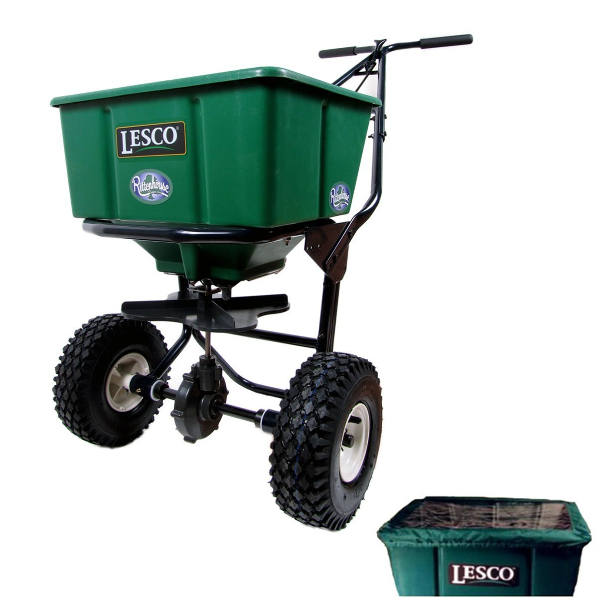 Get Quotations · Bundle - 2 Items: Lesco 50 Lb. Push Spreader 092807 with  Hopper Cover