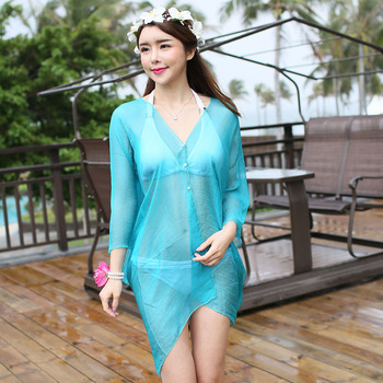 8c2454f068 Fashion Loose Women Beach Cover up Colorful Bathing Suit Covers Ups Cheap  Sarong