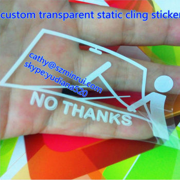 Custom car window decal and transparent static cling sticker without adhesivewindow static cling decal