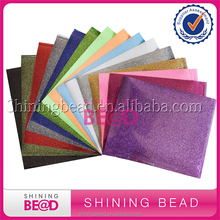 New Stylish Popular Assorted Colors Glitter Heat Transfer Vinyl Sheet For T Shirts