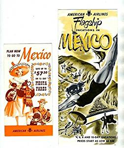 American Airlines Flagship Vacations to Mexico and Fiesta Fares Brochures 1950s