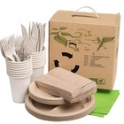 100% Compostable Biodegradable Plastic Forks, Bowls ,Plates , Wheatstraw Fiber ,Eco-Friendly, Eco Picnic Pack tablewares