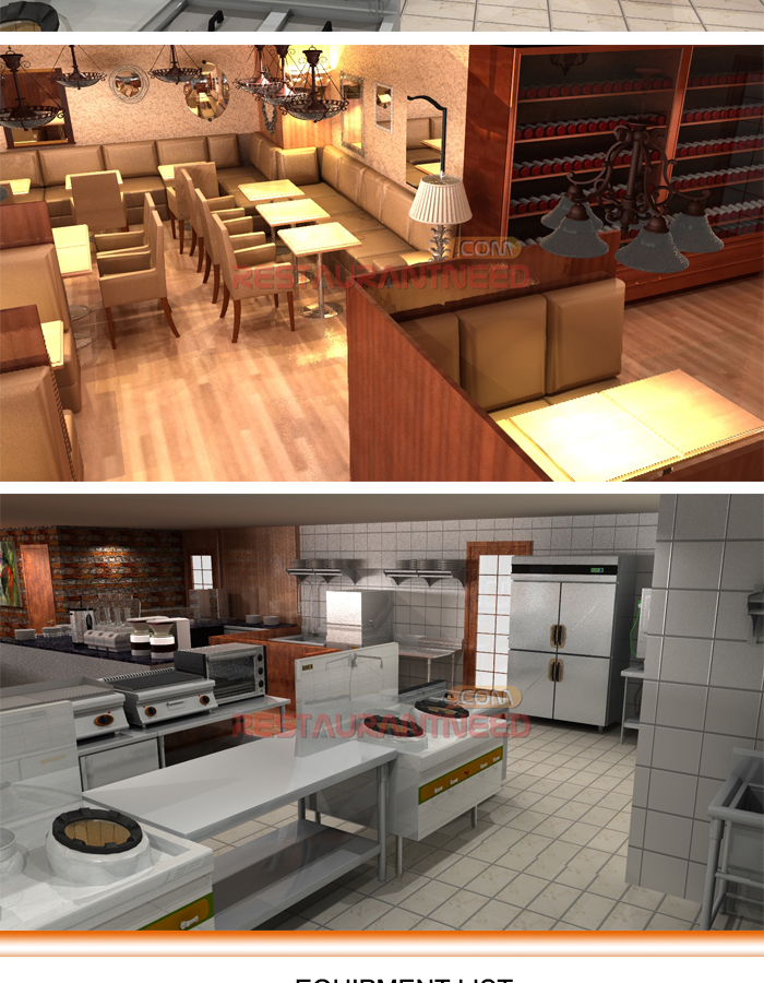 Shinelong Customized Project Cafeteria kitchen design