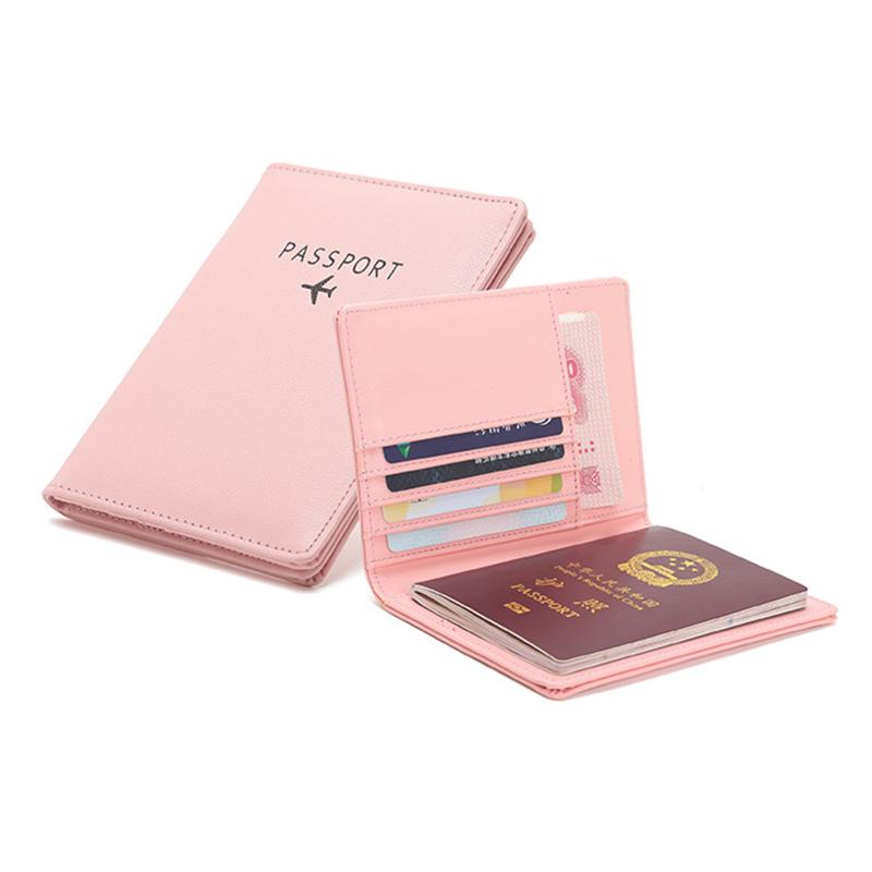 ธุรกิจท่องเที่ยวMulticolor RFID PUหนังผู้ถือบัตรกระเป๋ากระเป๋าสตางค์Passport Holder