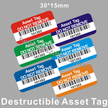 Security Ultra Destructible Vinyl Tracing Asset Tag Do Not