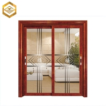 Aluminum Frame Frameless Exterior Toilet Barn Glass Slide Door For Sale