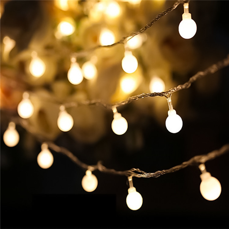 Cadeia de férias Globo Branco Quente À Prova D' Água Da Bateria Operado luz da corda Decorativa Fada Luz para Ao Ar Livre/Interior Quarto
