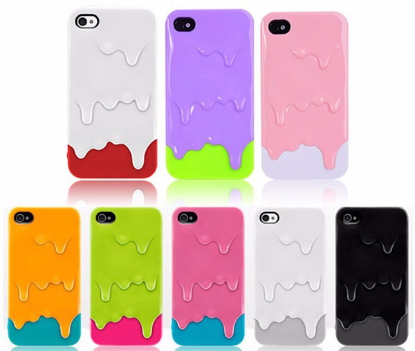 3D Melt Ice Cream Detachable mobile phones covers for iphone 5 case