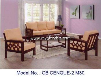 Woonkamer Houten Meubels : Houten woonkamer sofa set met salontafel houten sofa set meubels