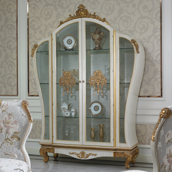 Great YB67 The 19th Century Luxury French Style Elegant White Living Room  Furniture Display Cabinet/European Design Inspirations