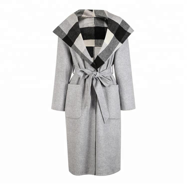 Winter new women's waist-lined wool coat
