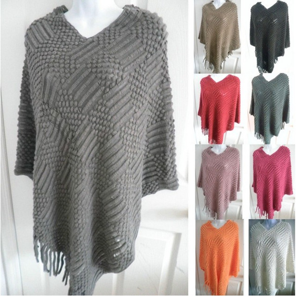 fashion Women warm Sweater Shawl