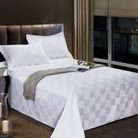 wholesale count hotel 100% cotton sateen super king size bedding set bed sheet