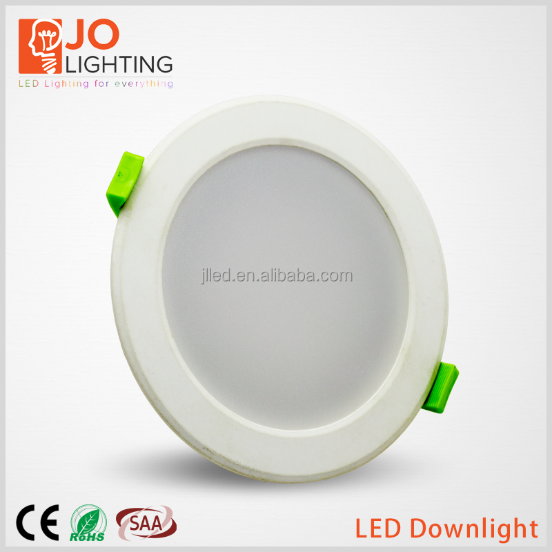 In-built driver Aluminium Plastic led light downlight dimmable lighting CE/ROHS/SAA