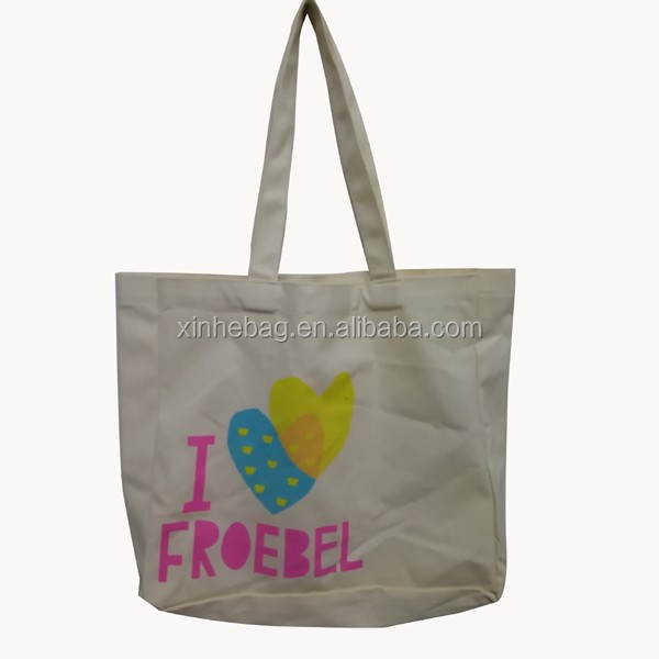 New Style 100% Cotton Custom Logo Shoulder Tote Bag Cotton shoping bag